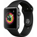 Apple Watch Series 3 42mm Space Gray Aluminum Case with Black Sport Band MQL12